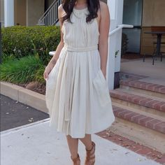 Gorgeous Isabel Marant Etoile Cream Dress 38