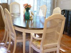 Sitting Pretty: The Best Upholstered Dining Chairs for Every Budget Dining Table Redo, Mixed Dining Chairs, Kitchen Table Redo, Dining Chair Makeover, Painted Dining Chairs, Dining Decor, Upholstered Dining Chairs, Dining Room Chairs, Dining Room Furniture