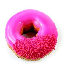 Pink donut recept