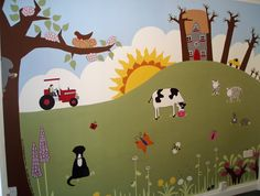 Countryside mural.