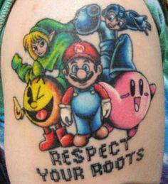 Old School Gamer Tattoo