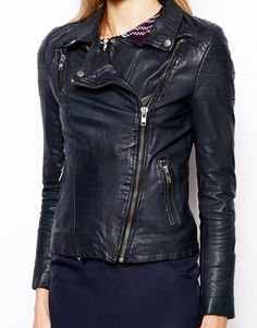 New Leather Jacket for Women's Motorcycle Black by standardleather
