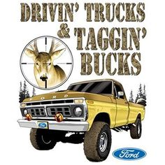 Driving Truck Tagging Buck Ford by Mychristianshirts on Etsy