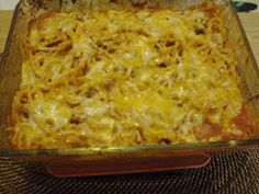Craving Haven : Baked Spaghetti with Cream of Mushroom