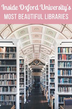 Did you know Oxford had loads of libraries. Look inside 8 of Oxford University's Most Beautiful Libraries. Home to every single book in the world (yes, really), Oxford University boasts the most stunning library porn. Literary Travel, Travel Books, Beautiful Library, Dream Library, Uk Universities, College Library, Travel Guides, Travel Tips, Most Beautiful