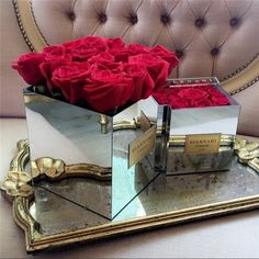 Cheap Storage Boxes & Bins, Buy Directly from China Aila acrylic flower delivery box with mirrors for 9 flowers Without Flowers Flower Box Gift, Flower Boxes, Bouquet Box, Glamour Decor, Cheap Vases, Mirror Box, Box Roses, Luxury Flowers, Acrylic Flowers