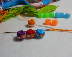 Miniature Ball of Cotton Thread tutorial                                                                                                                                                                                 More