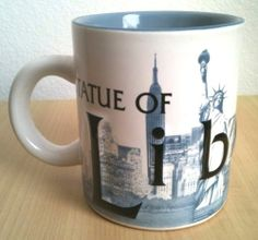 NYC 3D Mug Statue Liberty New York City Skyline Blue Coffee Cup RARE | eBay