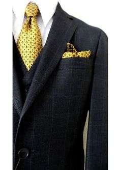 Look dapper and stylish with Bertolini brand 2 buttons slim fit vested suit for men. #menssuitsstylish