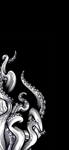 Kraken HD Wallpaper With Cartoon Design Le Kraken, Kraken Art, Octopus Drawing, Octopus Art, Release The Kraken, Grafik Design, Tentacle, Wallpaper Backgrounds, Aesthetic Wallpapers