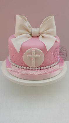 A very cute Holly Communion cake  Www.sweetdiamondcakes.co.uk