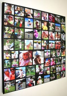 Wall picture collage diy photo canvas 38 New Ideas Photo Collage Canvas, Photo Collages, Collage Picture Frames, Collage Collage, Photowall Ideas, Diy Foto, Photo Deco, Diy Canvas, Photos On Canvas Diy