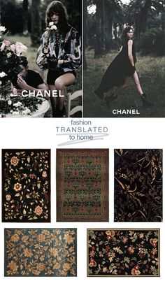 Fashion Translation: Dark Florals | Trend Center by Rugs Direct #homedecor #rugs