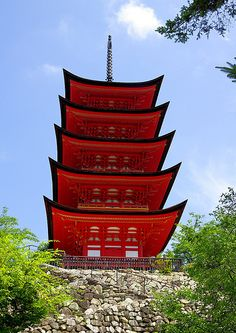 Miyajima Five-Storied Pagoda , Japan[Worldheritage]