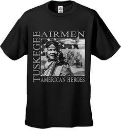 African American Heroes Tuskegee Airmen Mens T-shirt