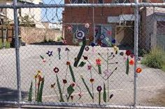 Image result for how do you crochet on a fence