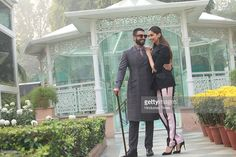 Bollywood actors Deepika Padukone and Ranveer Singh pose for a profile shoot during an interview for the promotion of their upcoming movie Bajirao Mastani on December 15, 2015 in New Delhi, India.