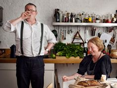 A real kitchen. Danish photographer Ditte Isager shoots Fergus and Margot Henderson for Bon Appetit.