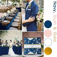 Gold Wedding Cakes navy and blush wedding invitations for navy and gold wedding colors 33 navy blue and pale pink wedding invitations Gold Wedding Colors, Pink And Gold Wedding, Summer Wedding Colors, Blush And Gold, Wedding Color Schemes, Rose Gold, Navy Gold, Wedding Colors For September, Marine Wedding Colors