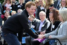 Prince Harry turned up the charm in Nottingham today. Check it out!