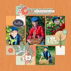 Hello Fall TEMPLATE: 136607 By Roxanne Buchholz 12 x 12 Scrap Page | 1 extra pages Document your favorite fall activity with this fun set of scrap pages.