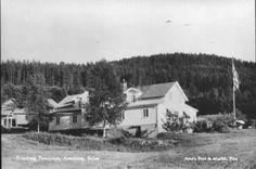 Hedmark fylke Åsnes kommune i Solør Svanbergs Pensjonat Utg Arne's Foto og Musikk, Flisa 1950-tallet
