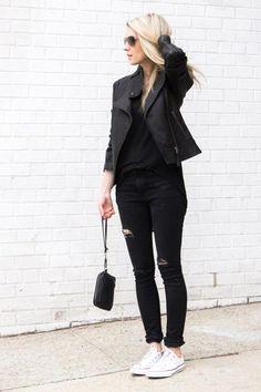 Negro Black y Zapatillas Blancas