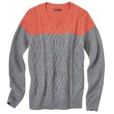 Merona® Women's Chunky Colorblock Cable Sweater - Assorted Colors in Small $25