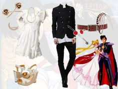 Sailor moon and tuxedo mask inspired outfits Sailor Moon Outfit, Sailor Moon Cosplay, Sailor Chibi Moon, Casual Cosplay, Cosplay Outfits, Anime Outfits, Cool Outfits, Anime Inspired Outfits, Character Inspired Outfits