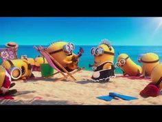 MINIONS on the Beach Paradise - Despicable me 2 - In The Summertime - HD 1080p - Banana - YouTube