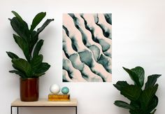 Image of Waves – Green & Pink
