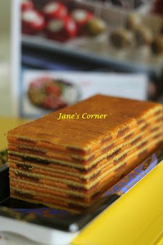 Jane's Corner: Orange HawFlakes Cake Lapis