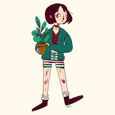 """1,584 Likes, 4 Comments - Nan Lawson (@nanlawson) on Instagram: """"Trying to get looser when drawing for fun. So here's a little Mathilda from Leon the Professional.…"""""""