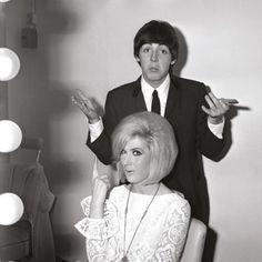 Dusty Springfield and Paul McCartney
