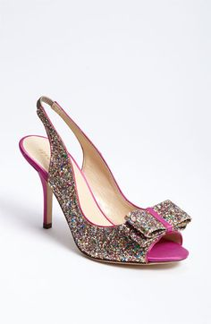kate spade new york 'charm' slingback pump - own & love! My fav wedding shoes!  Cool Shoes!!!