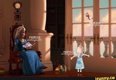 Elsa: What are you looking at, Elsie? Frozen And Tangled, Disney Princess Frozen, Disney Princess Pictures, Frozen Elsa And Anna, Disney Fan Art, Baby Disney, Disney Love, Jack Y Elsa, Jack Frost And Elsa