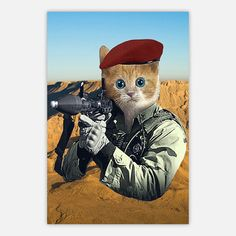 GI Kitty Poster 18x24 now featured on Fab.