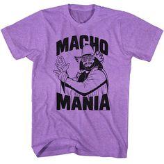 Mens Randy Macho Man Savage Macho Mania Tee Shirt