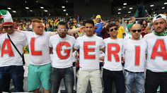 Algeria fans enjoy the atmosphere