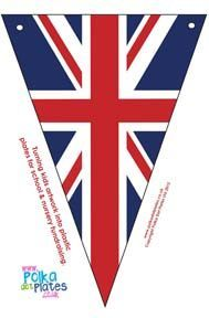 Recipes, Crafts and Activities London Theme Parties, London Party, Bunting Template, Bunting Banner, Banners, Buntings, Theme Anglais, England Party, Union Jack Decor