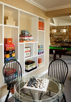 10 Game Rooms That Play Nice 10 Game Rooms That Play Nice — Apartment Therapy. 10 Game Rooms That Play Nice 10 Game Rooms That Play Nice — Apartment Therapy Game Room # Game Room Design, Family Room Design, Playroom Design, Attic Renovation, Attic Remodel, Apartment Therapy, Studio Apartment, Apartment Ideas, Teen Game Rooms