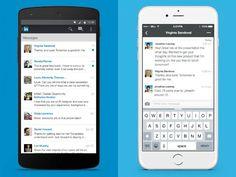 LinkedIn now has a messaging feature.  http://on.recode.net/1Vu5cYI