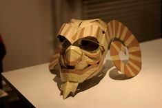 Cardboard gargoyle mask | Flickr - Photo Sharing!