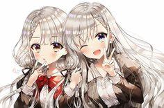 Cool Anime Girl, Anime School Girl, Pretty Anime Girl, Kawaii Anime Girl, Anime Art Girl, Anime Girls, Manga Girl, Anime Sisters, Anime Siblings