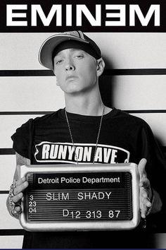 Eminem Slim Shady Mugshot Poster Magnetic Notice Board Black Framed - x 66 cms (Approx 38 x 26 inches) The Real Slim Shady, Eminem Music, Eminem Rap, Eminem Memes, Eminem Songs, Rap God, Detroit, Eminem Poster, Hip Hop Tattoo