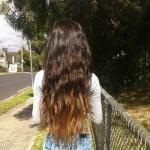 Ombre Hair Color Idea: Wavy Dip-Dyed Long Hair