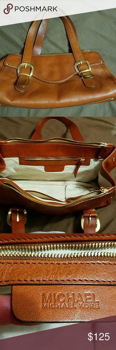 Michael Kors Brown shoulder bag/ two zipper bag/ shoulder straps little damaged MICHAEL Michael Kors Bags Shoulder Bags