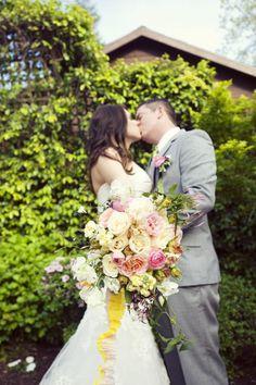 Whimsical Garden Wedding Inspiration   OneWed/ truelovephoto.com