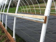 6) Add hip boards — this is where the plastic actually attaches to the greenhouse. We chose to buy channel locks which hold the 'wiggle wire' and secure the ...