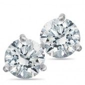 Passion Stone, 14K White Gold Diamond Earrings, 1.00 ctw.